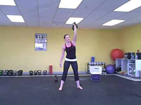 Katy L. 16kg Kettlebell Snatches