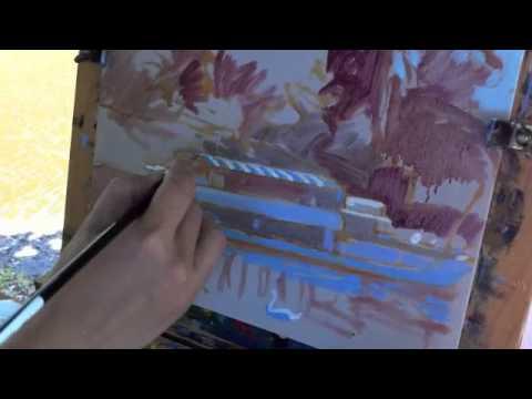 Haidee-Jo paints Plein Air in Newark