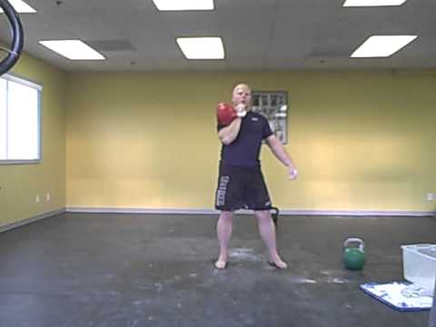32kg Kettlebell Presses: 3 minute set. Idaho Kettlebells