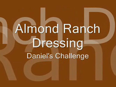 Almond Ranch Dressing
