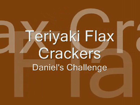 Teriyaki Almond Flax Crachers