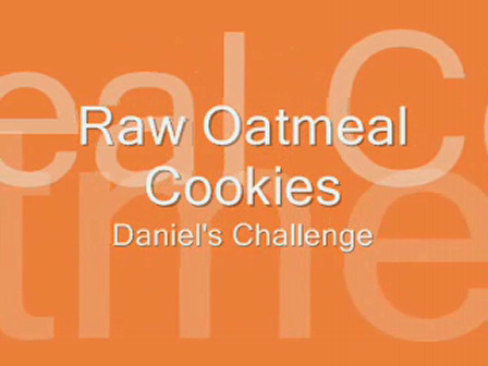 Raw Oatmeal Cookies