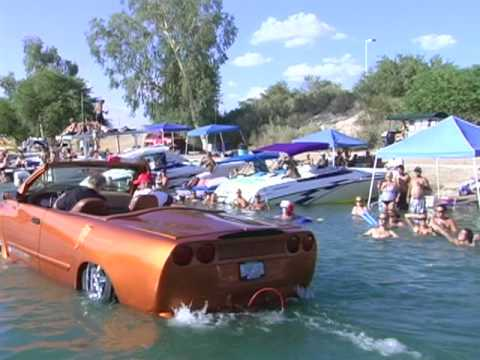 "Amphibious Car Vehicle at Lake Havasu and Newport Beach CA ""American Deamin"""