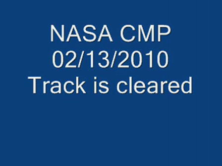 NASA the track is cleared
