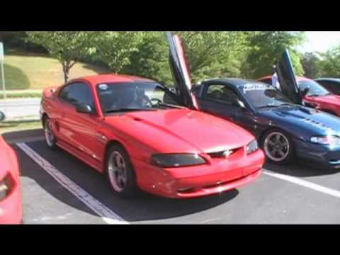 Unstabled Mates Mustang Club Cruising to Audio Wizards Car Show