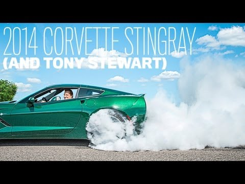 !! 2014 Chevrolet Corvette Stingray Burnout with Tony Stewart !!