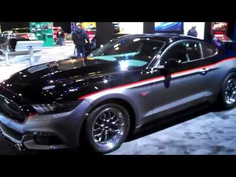 SEMA 2014 specially built Ford Mustangs on the Ford display