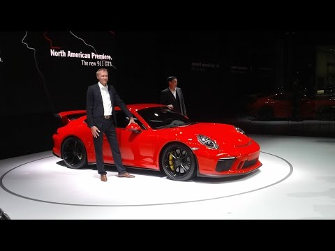 Porsche 911 GT3 and Pamamera Sport Turismo North American Introduction at the 2017 New York Internat