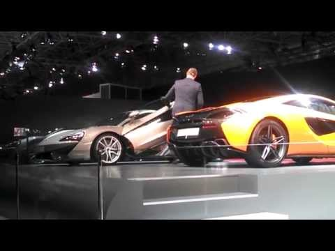Unveiling the new McLaren 570S at the 2015 New York International Auto Show