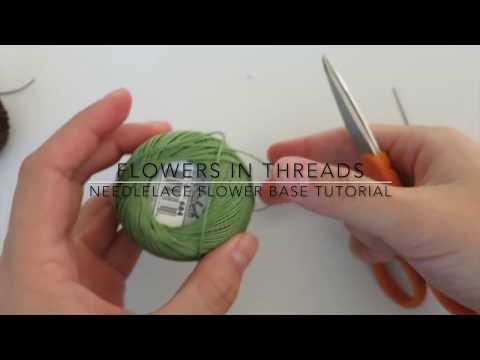 Needlelace for Beginners- Flower Center Video Tutorial (Turkish Igne Oya)