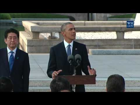 Obama's Historic Visit To Hiroshima Memorial - Full Ceremony & Speech