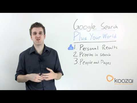 Google Search, Plus Your World:  a Video Guide