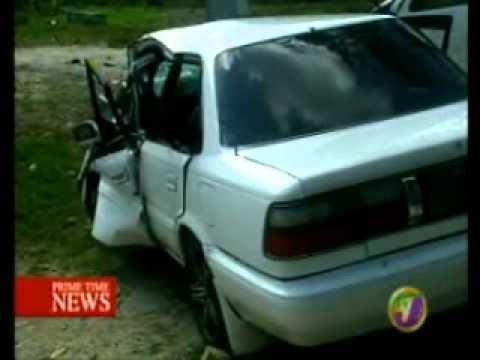TVJ NEWS - MOTOR VEHICLE ACCIDENT IN ST JAMES {JAMAICA}