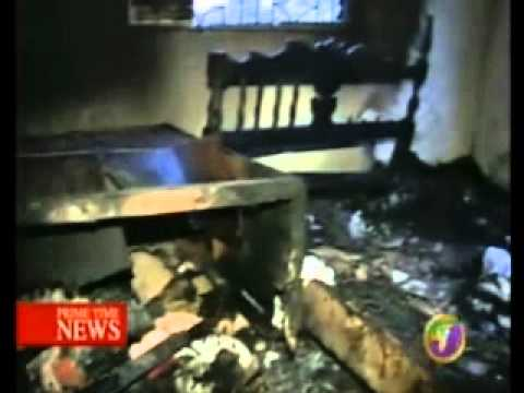 TVJ NEWS - NEIGHBOURS SAVE FAMILY FROM FIRE IN ST ELIZABETH {JAMAICAN HEROES}