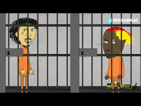 VYBZ KARTEL AND ELEPHANT MAN HIT EACH OTHER UP AT JAIL
