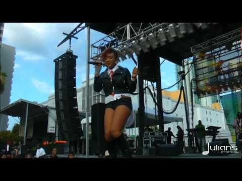 Tifa Performs In Miami At The Reggae World Unity Event