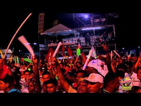 Chutney Soca Monarch 2015 Finals -  Ravi B & Rikki Jai CSM 20 Firepower Fireworks