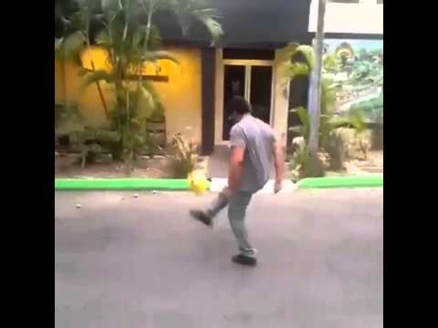 Rohan Marley has ball juggling skills just like his dad