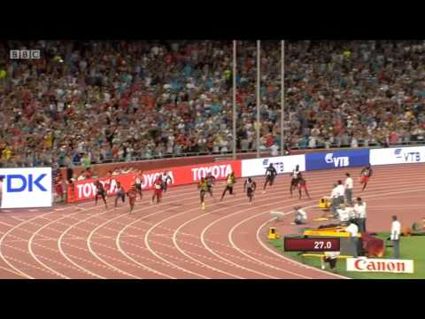 Usain Bolt Blazing Anchor Leg Jamaica Wins Men 4x100m  USA DISQUALIFIED Final IAAF World Champs 2015