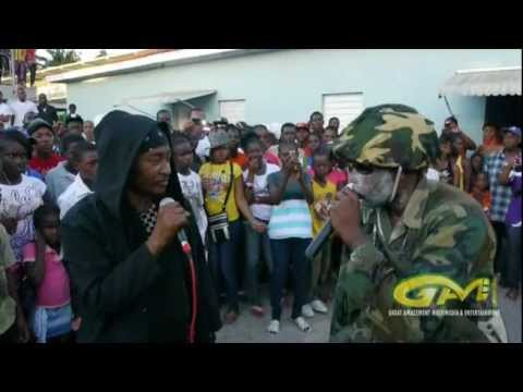Apache Chief and Sarge rocks Lacovia High School (imitating Vybz Kartel, Mavado, Buju Banton)