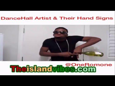Dancehall Artists & Their Hand Signs ( lol @ Alkaline)