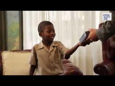 HOLNESS GIVES BOYS TABLETS