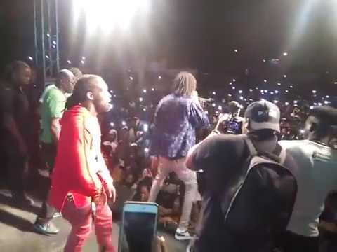Mavado/Alkaline Jahmeil dominates the stage again UP TO THE LINE LIMELIGHT April 2017
