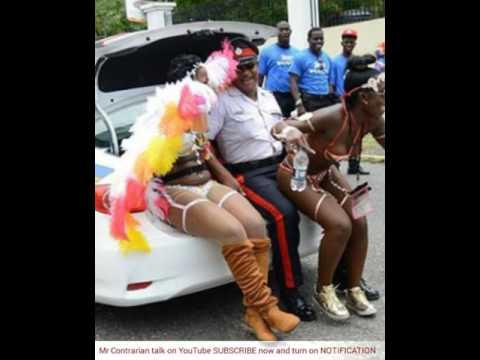 Mas Mania 2017 - Jamaican Cop gets CARNIVAL WINE in car trunk