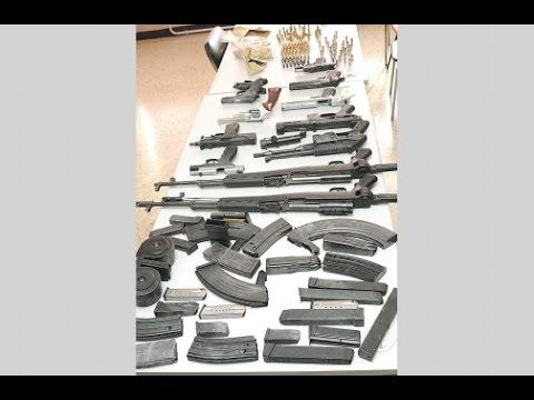 GUNS FOUND IN BARRELS AT FREEPORT MONTEGO BAY