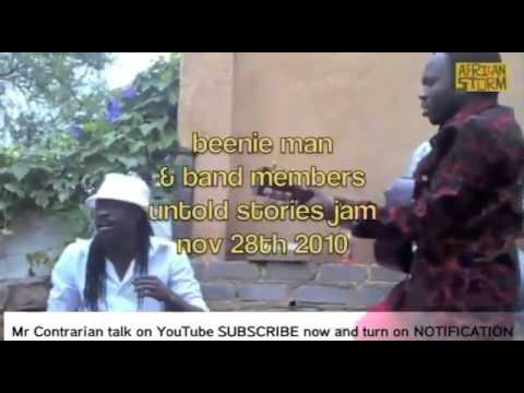 Beenie Man singing Buju Banton Untold Stories with African Band back in 2010