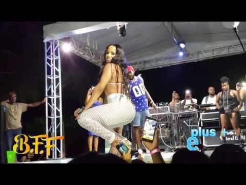 Ishawna Full Performance Diss Bounty killa @ B F F Bikini Beach Portland