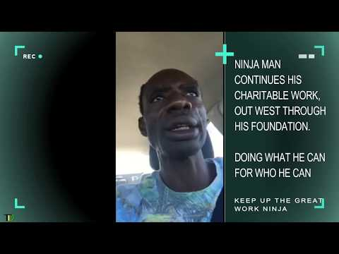 Ninja Man continues His CHARITABLE work, out WEST, through His FOUNDATION