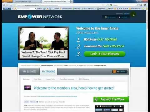 Вход на блог Empowernetwork