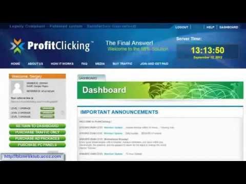 ProfitClicKing <Just Been Paid> регистрация, работа в кабинете!