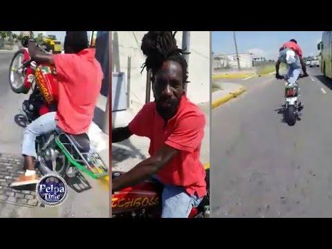 Sizzla on the Jamaica highway stunt riding, Bad Rasta