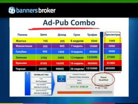 Banners Broker - Презентация. Очень доступно и понятно