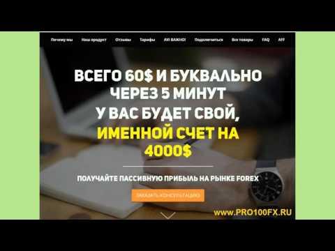 Регистрация в партнерской программе. www.pro100fx.ru