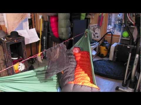 Sleeping Bag as Top Quilt in Hammock and....Pads