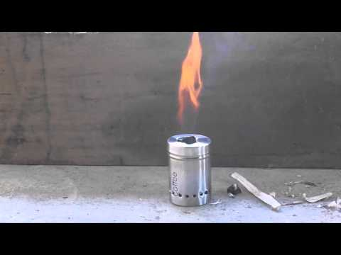 Test Burn of wood gas stove  Improvised world stove design by Kesate Iyasu