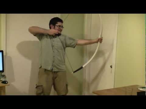 How to Make an 80 Pound Longbow With PVC Pipe Part 2 Plus Humor