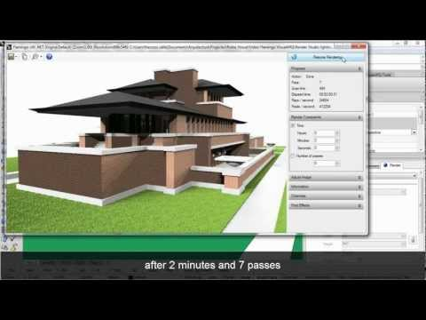 Fast an easy rendering of a VisualARQ 3D architectural model with Flamingo nXt
