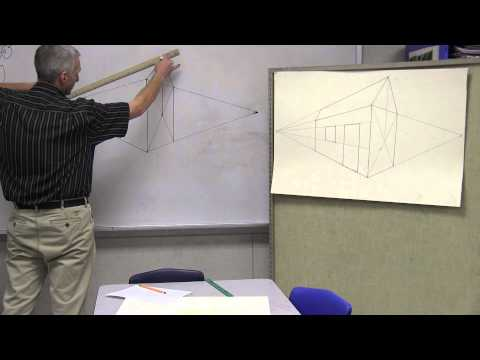 Art instruction for children 2 point perspective ( house) PART 1 OF  PERSPECTIVE SERIES