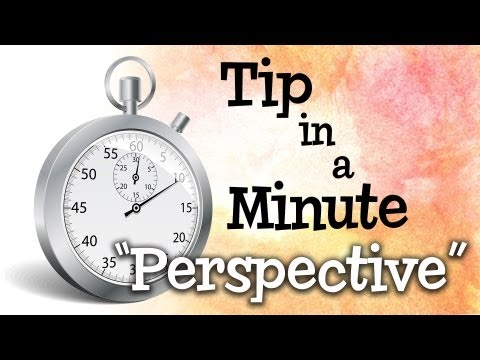 Understanding 1, 2 & 3 Point Perspective in under 1 minute!