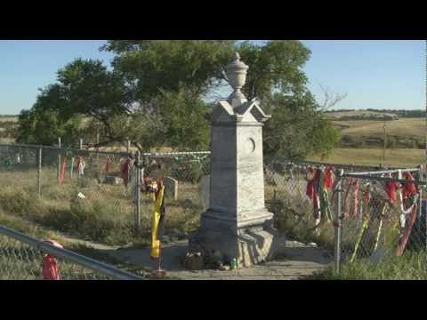 Wounded Knee Massacre Site & Mass Grave!,...South Dakota!