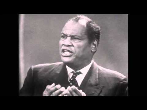 Sidi Paul Robeson: On colonialism, African-American rights (Spotlight, ABC,1960)