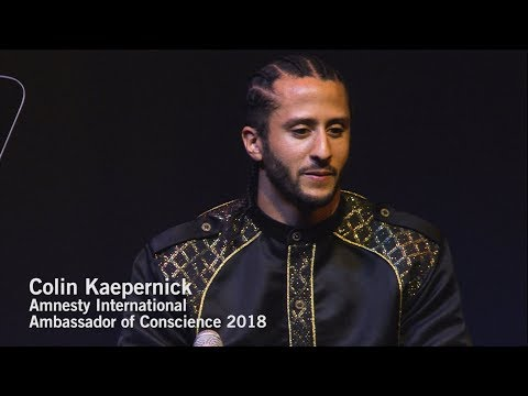 Colin Kaepernick, Amnesty International Ambassador of Conscience (full speech)