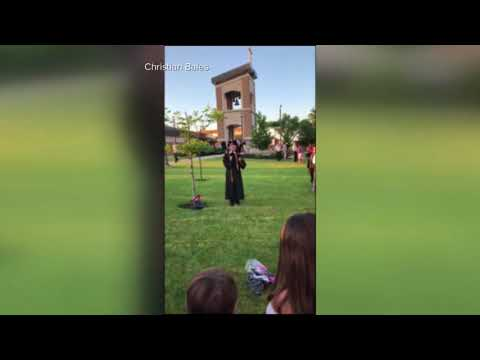 Denied permission to speak at his own graduation, Holy Cross valedictorian delivers speech outside
