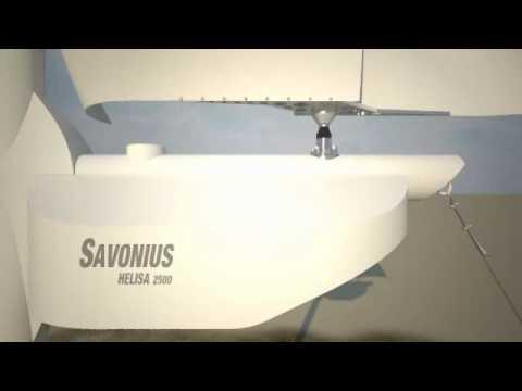 Savonius Helisa 2500 wind turbine, Animation: Rhino + Bongo