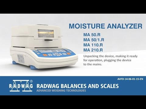 MAR Moisture Analyzer - Quick Start (EN)
