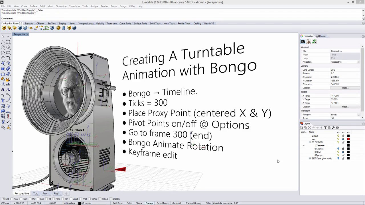 Turntable Animation with Bongo (Part 1)